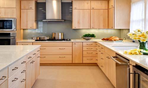 cuisine bois ou melamine. Black Bedroom Furniture Sets. Home Design Ideas